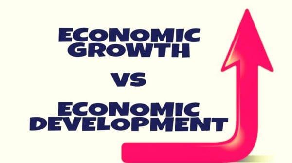 অর্থনৈতিক উন্নয়ন ও প্রবৃদ্ধি পার্থক্যঃ