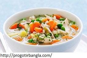 চিকেন ভেজিটেবল স্যুপ (Chicken vegetable soup)