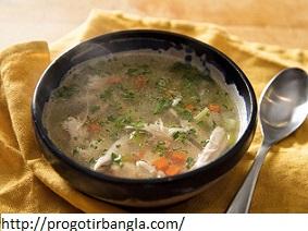 চিকেন স্যুপ রেসিপি (Chicken soup recipe)