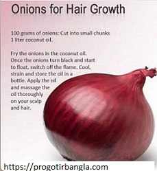 চুলের যত্নে পেঁয়াজের উপকারিতা (Benefits of onion for hair care)