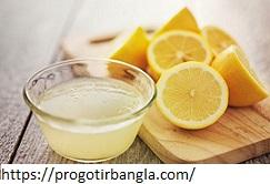 লেবুর রস (Lemon juice)
