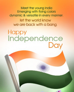 Happy Independence Day SMS Text Status Messages Wishes Greetings India In English Hindi Telugu Tamil Kannada Bengali for Mobile Facebook Whatsapp