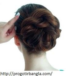 চুলের খোপার ডিজাইন রোপ ব্রেইড (Hair bun design rope braid)