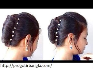 চুলের খোপার ডিজাইন ফ্রেঞ্চ রোল (Hairstyles Design French Roll)